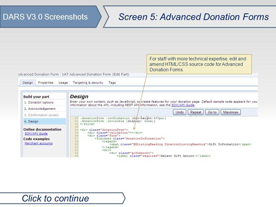 DARS V3.0 Screenshots Le Fin.