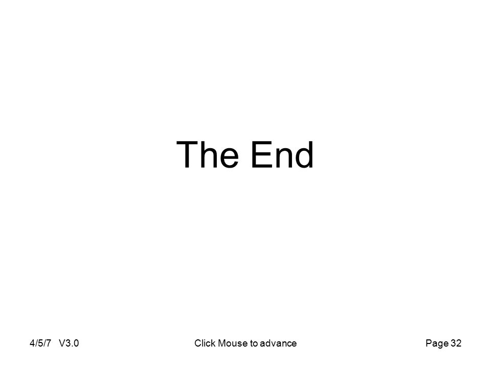 4/5/7 V3.0Click Mouse to advancePage 32 The End