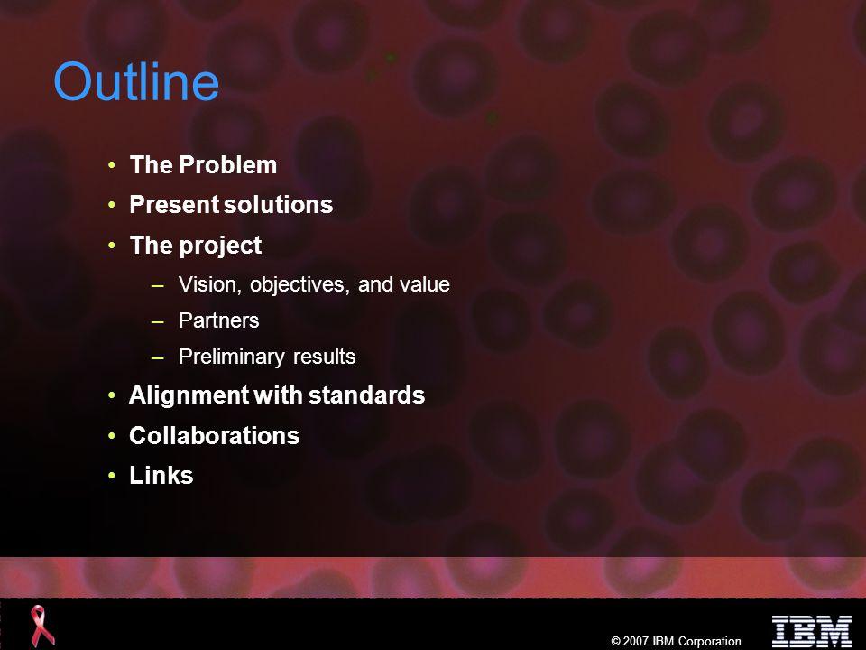 © 2007 IBM Corporation The problem