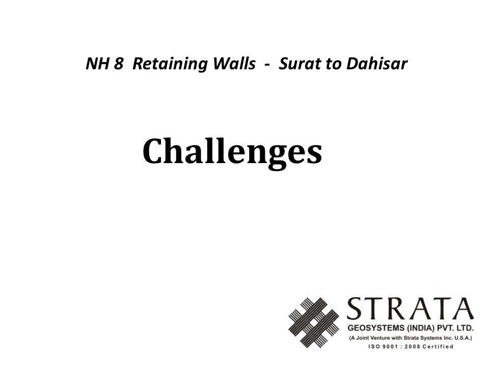 Challenges NH 8 Retaining Walls - Surat to Dahisar