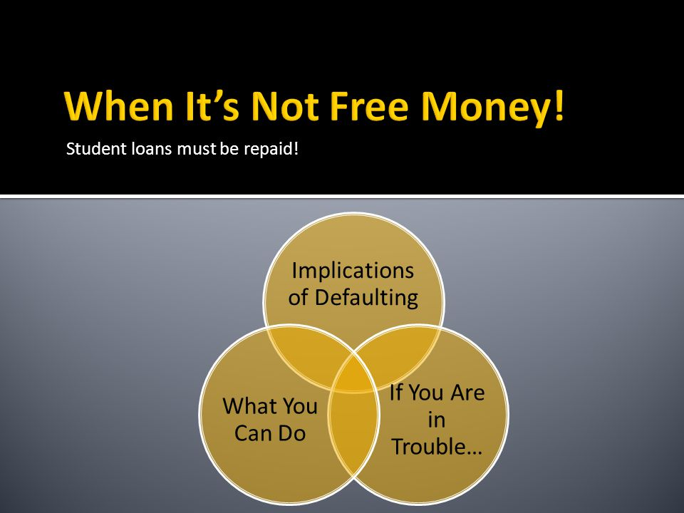 Student loans must be repaid! Implications of Defaulting If You Are in Trouble… What You Can Do