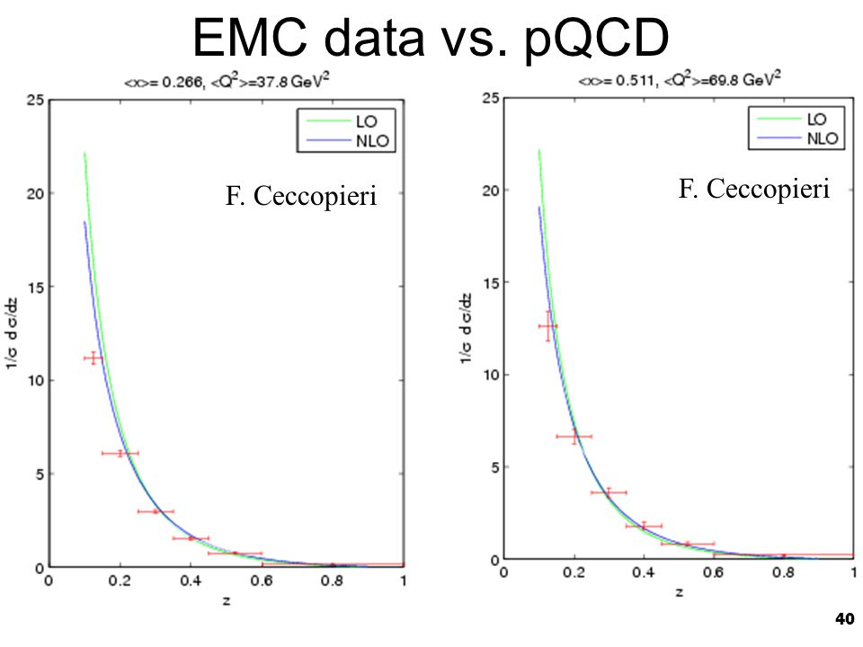 40 EMC data vs. pQCD F. Ceccopieri