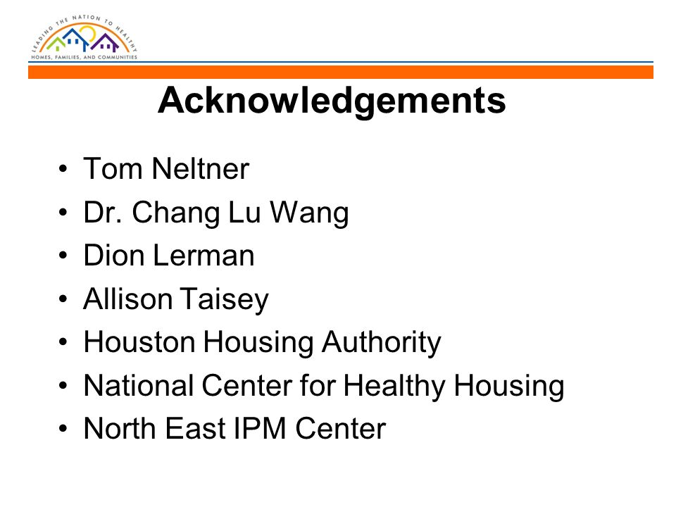 Acknowledgements Tom Neltner Dr.