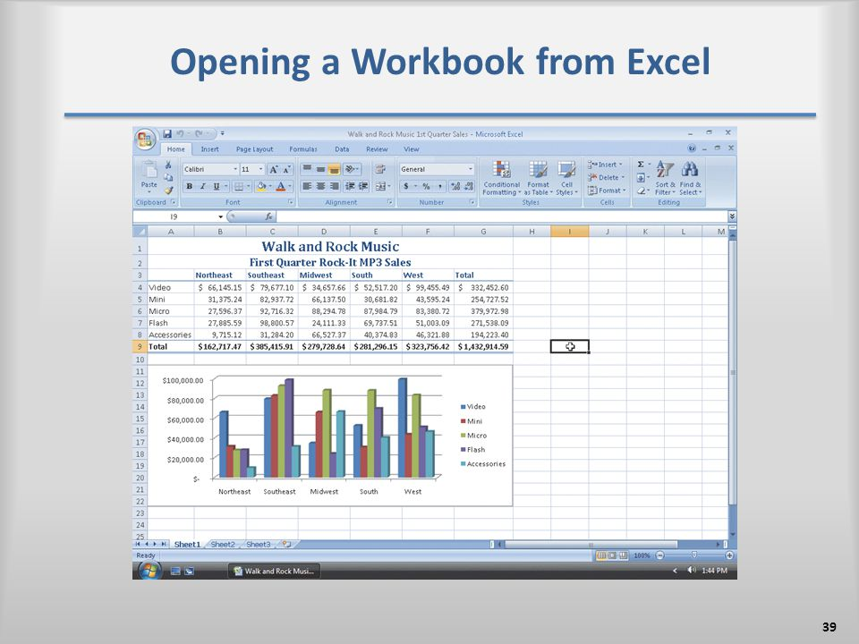 Opening a Workbook from Excel 39