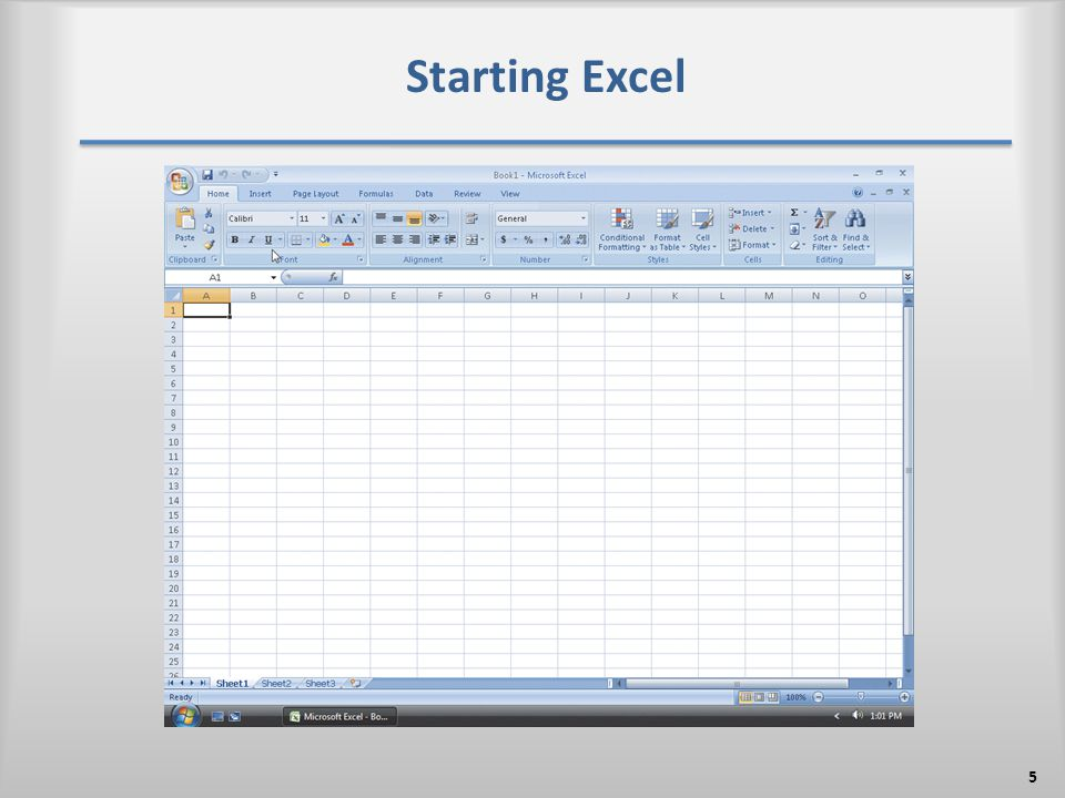Starting Excel 5