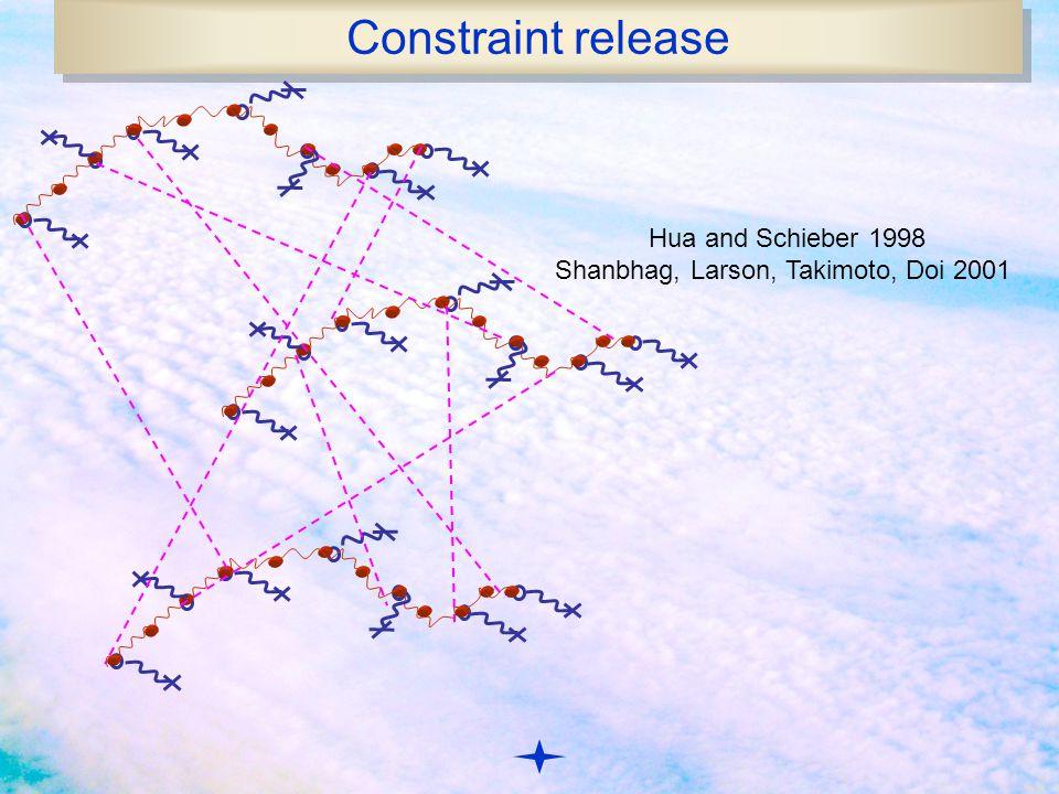 Constraint release Hua and Schieber 1998 Shanbhag, Larson, Takimoto, Doi 2001