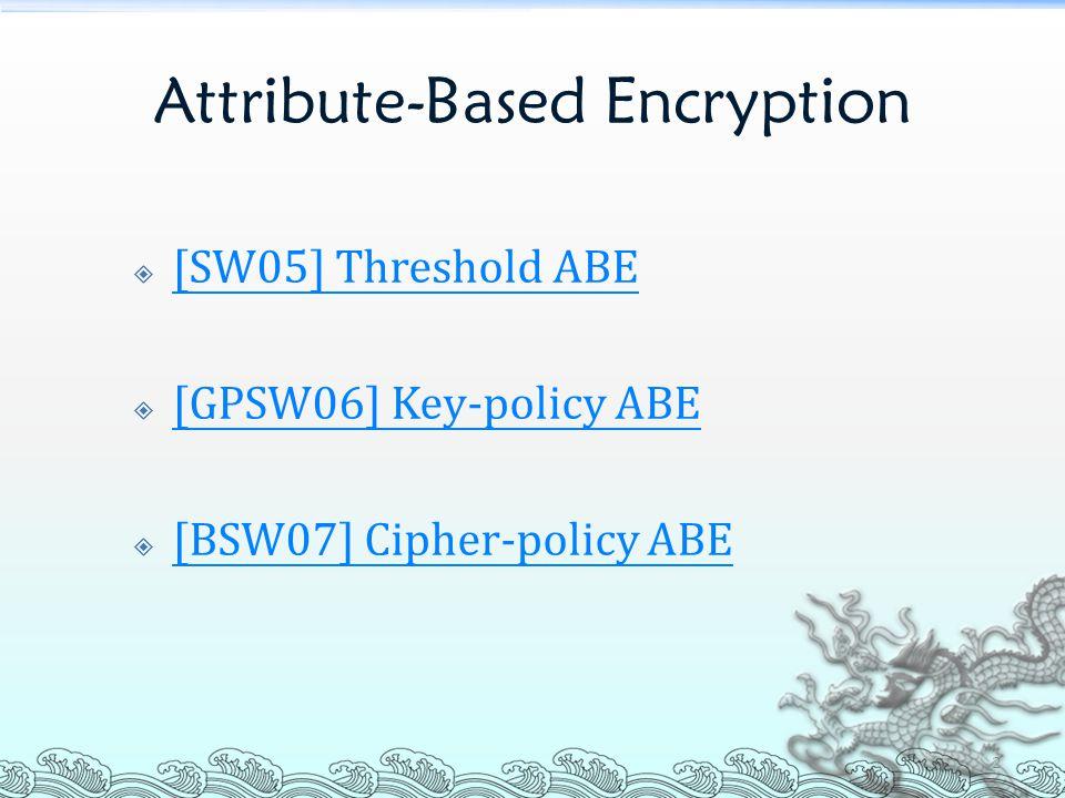 [SW05] THRESHOLD ABE 3