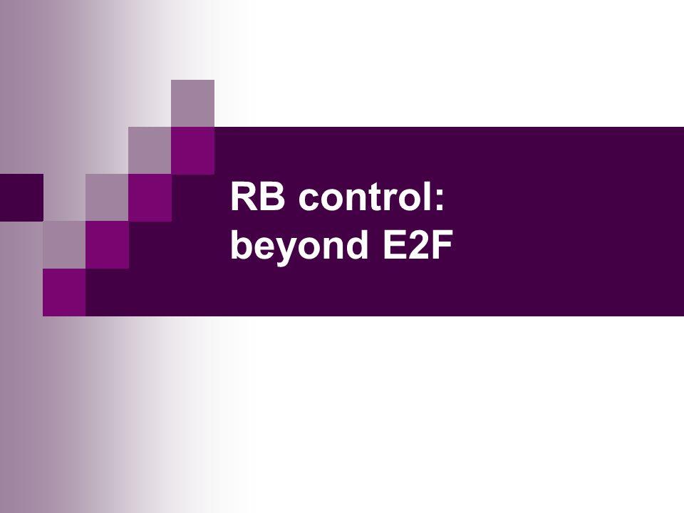 RB control: beyond E2F