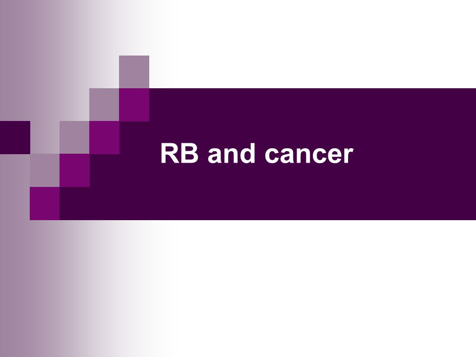 RB and cancer