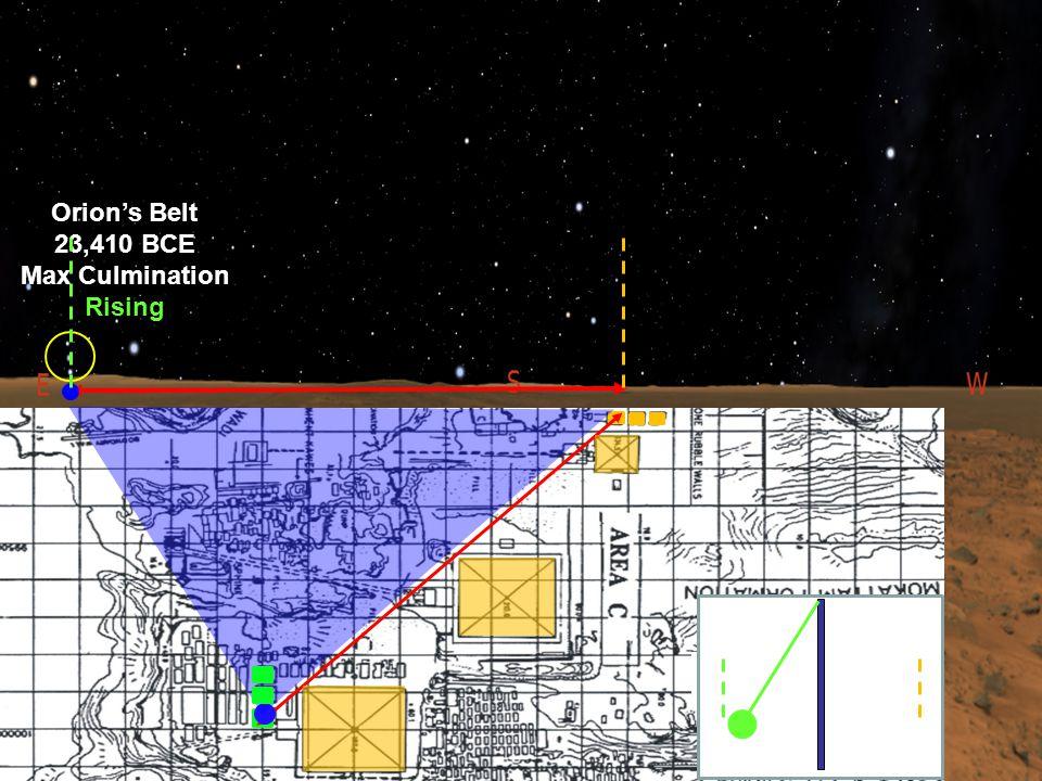 23,410 BCE Orion's Belt 23,410 BCE Max Culmination Rising G3