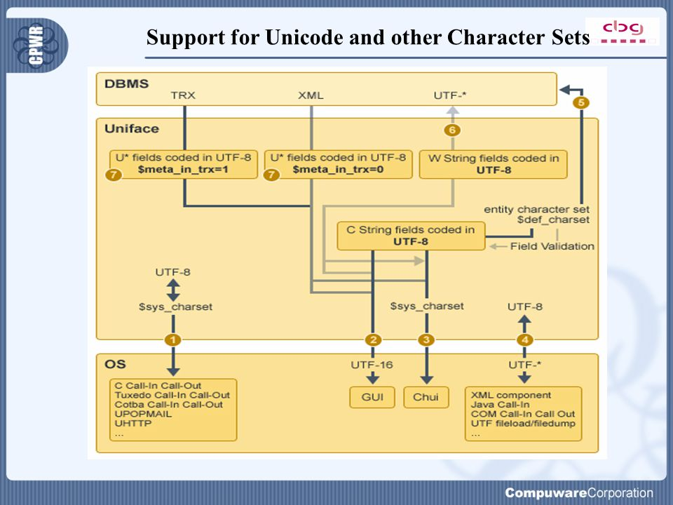 Support for Unicode and other Character Sets