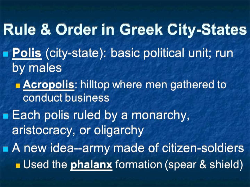 Section 2: Warring City-States