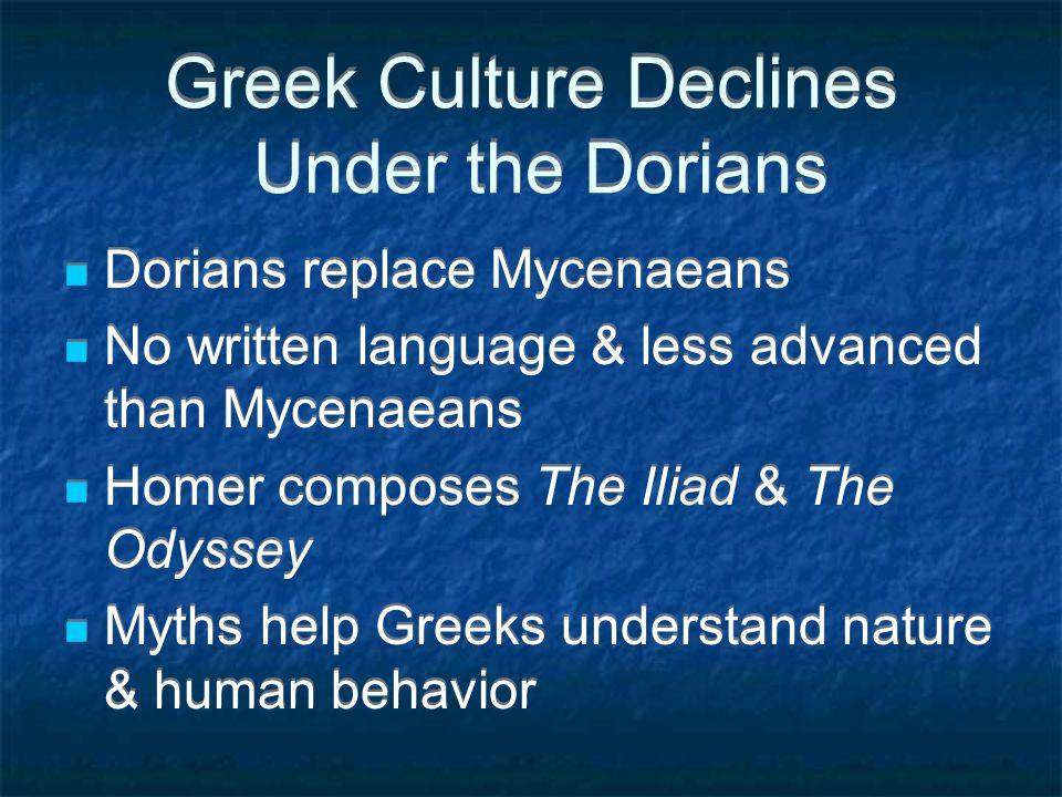 Mycenaean Civilization Develops Strong culture led by wealthy warrior- kings Invade Crete, spread aspects of Minoan culture Mycenaean kings defeat Tro