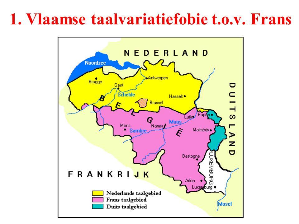 1. Vlaamse taalvariatiefobie t.o.v. Frans