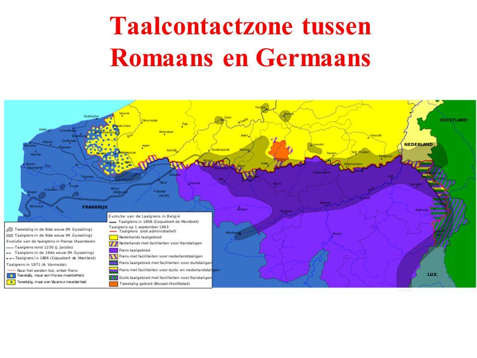 Taalcontactzone tussen Romaans en Germaans