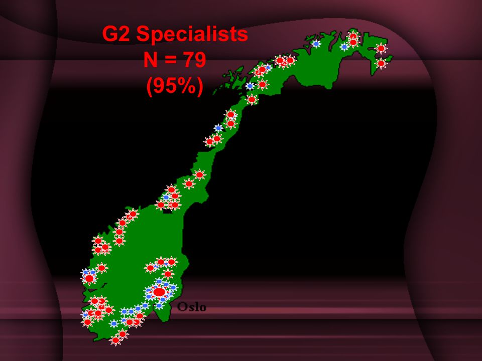 G2 Specialists N = 79 (95%)