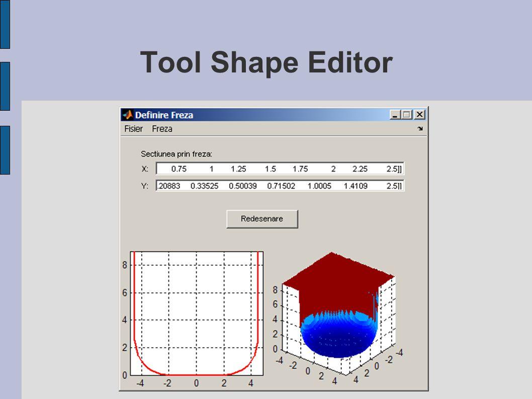 Tool Shape Editor