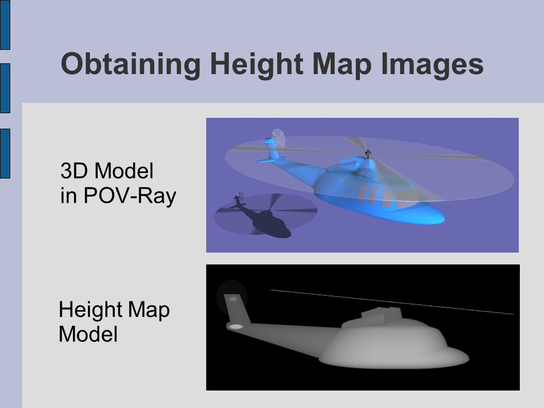 Obtaining Height Map Images 3D Model in POV-Ray Height Map Model