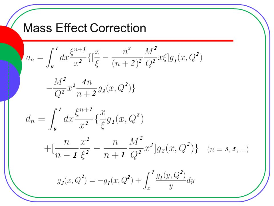 Mass Effect Correction