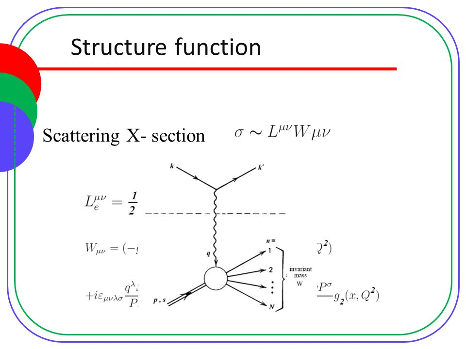 Structure function Scattering X- section