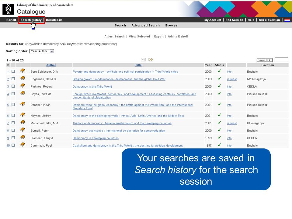 You would like to keep informed of new titles on this subject Your searches are saved in Search history for the search session