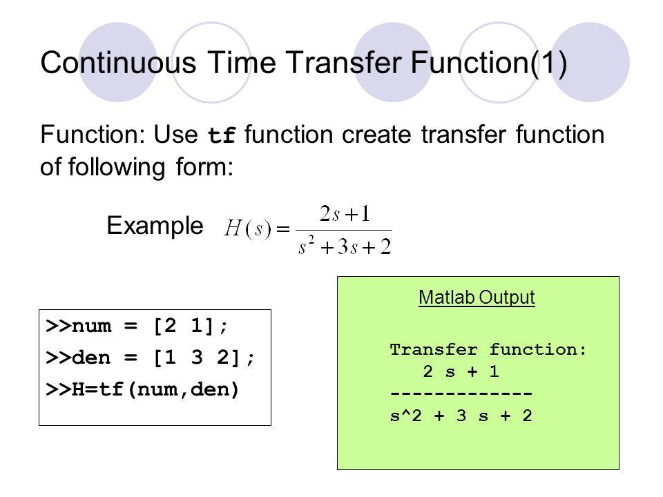Transient Response Analysis(6) Impulse response of H(s)