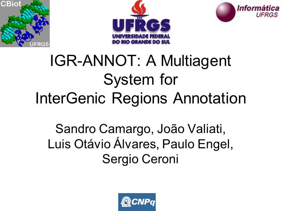 IGR-ANNOT: A Multiagent System for InterGenic Regions Annotation Sandro Camargo, João Valiati, Luis Otávio Álvares, Paulo Engel, Sergio Ceroni
