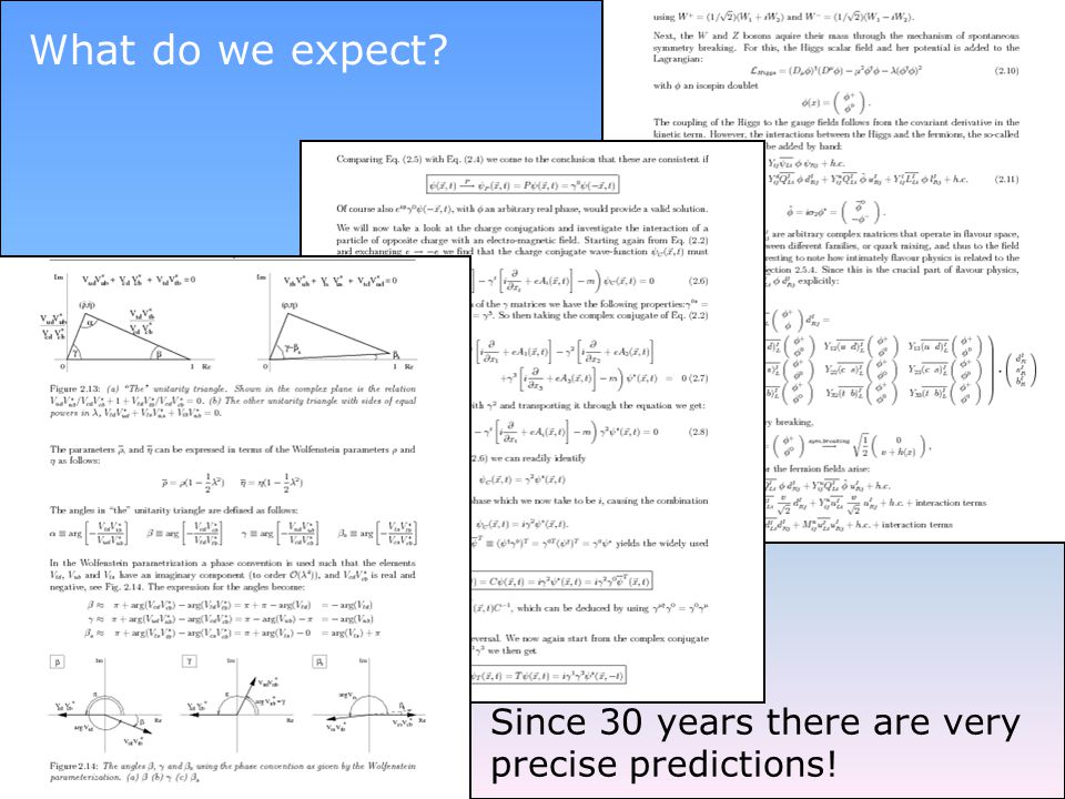 What do we expect Since 30 years there are very precise predictions!
