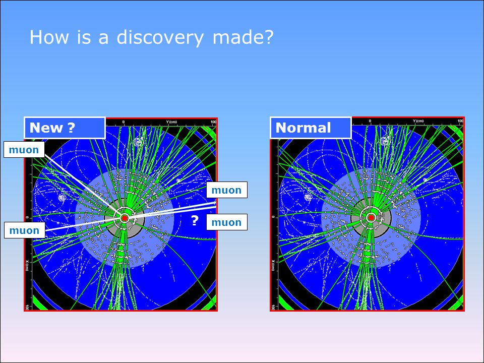 Normal How is a discovery made New muon