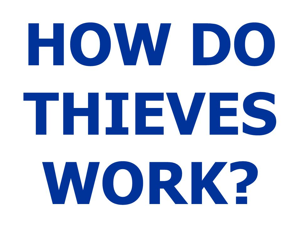 HOW DO THIEVES WORK?