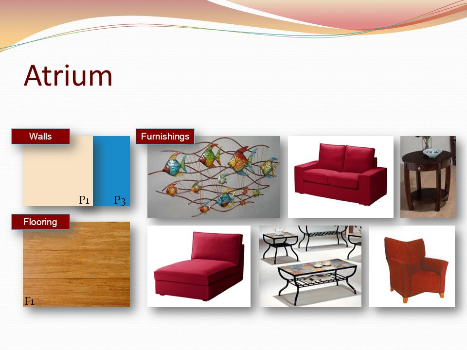 Atrium Furnishings Walls Flooring F1 P1P3