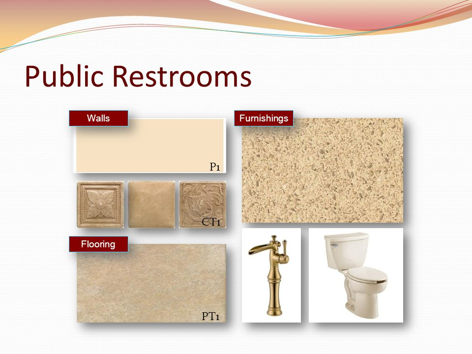 Public Restrooms Furnishings Walls Flooring P1 CT1 PT1