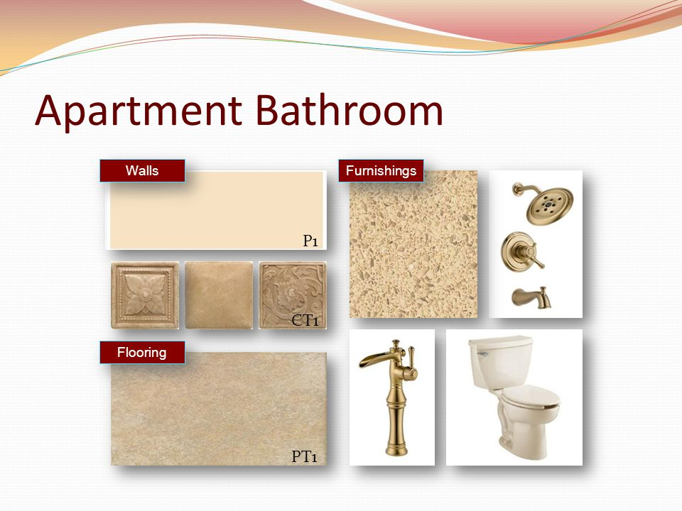 Apartment Bathroom Furnishings Walls Flooring P1 CT1 PT1