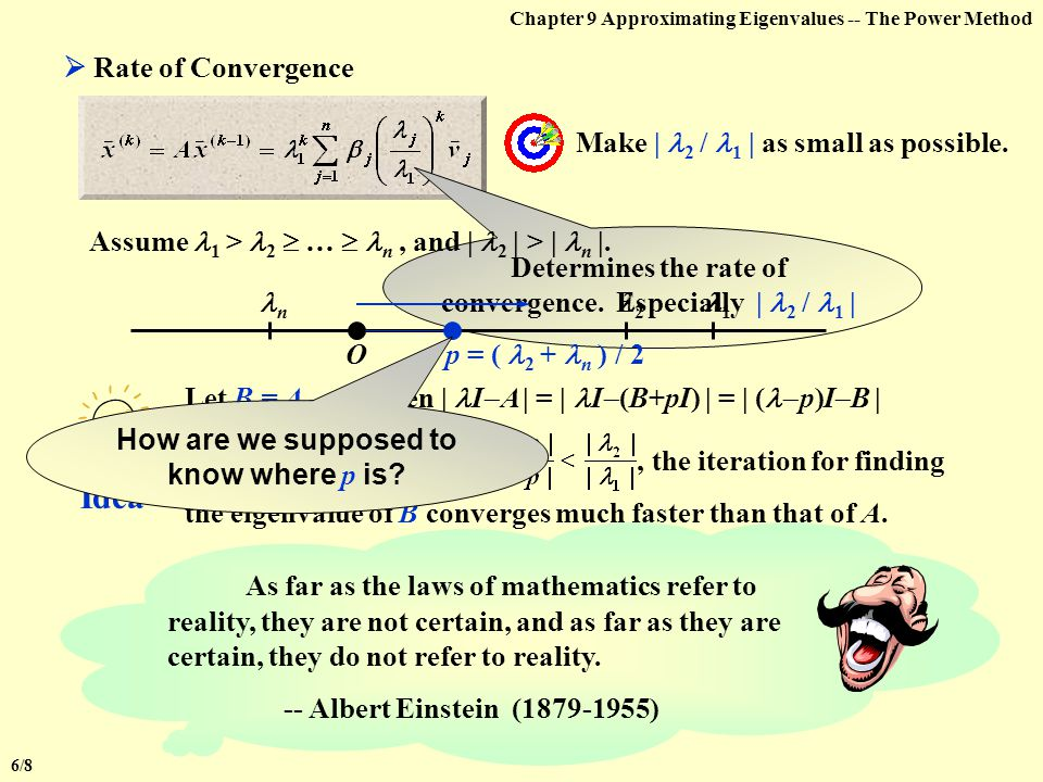 Chapter 9 Approximating Eigenvalues -- The Power MethodNote: The method works for multiple eigenvalues  The method works for multiple eigenvalues 1 =