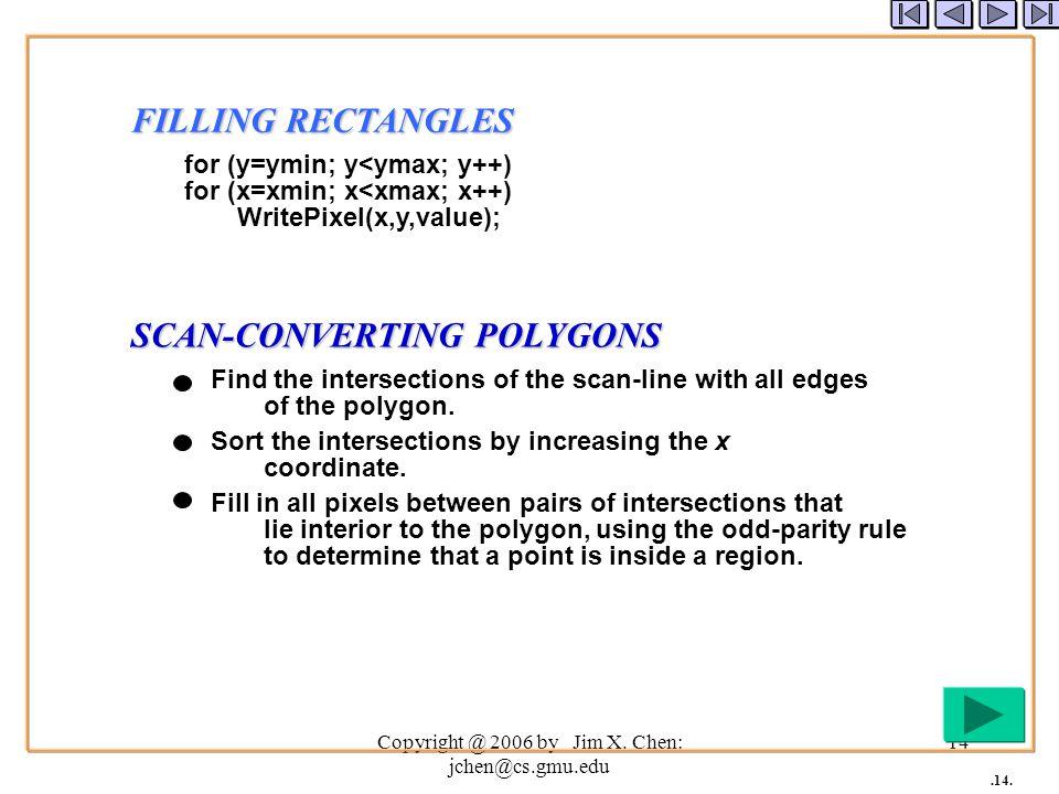 Copyright @ 2006 by Jim X. Chen: jchen@cs.gmu.edu 13.13.