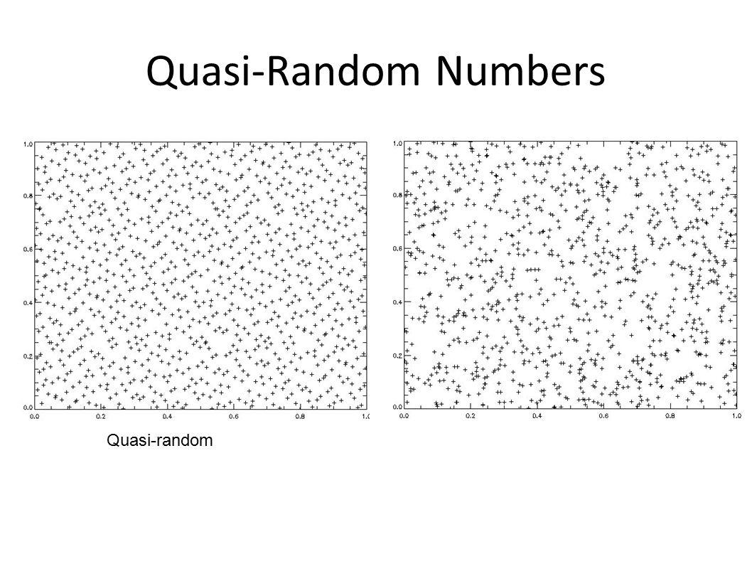 Quasi-Random Numbers Quasi-randomPseudo-random