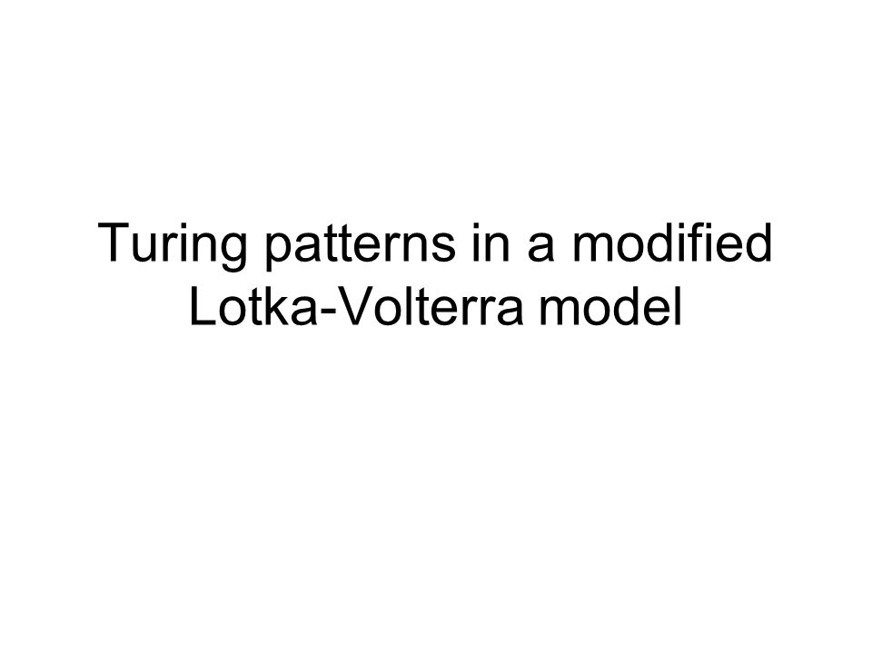 Turing patterns in a modified Lotka-Volterra model
