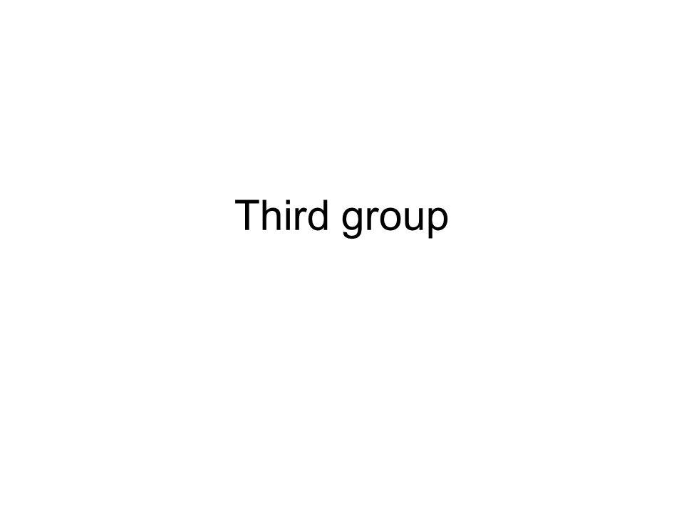 Third group