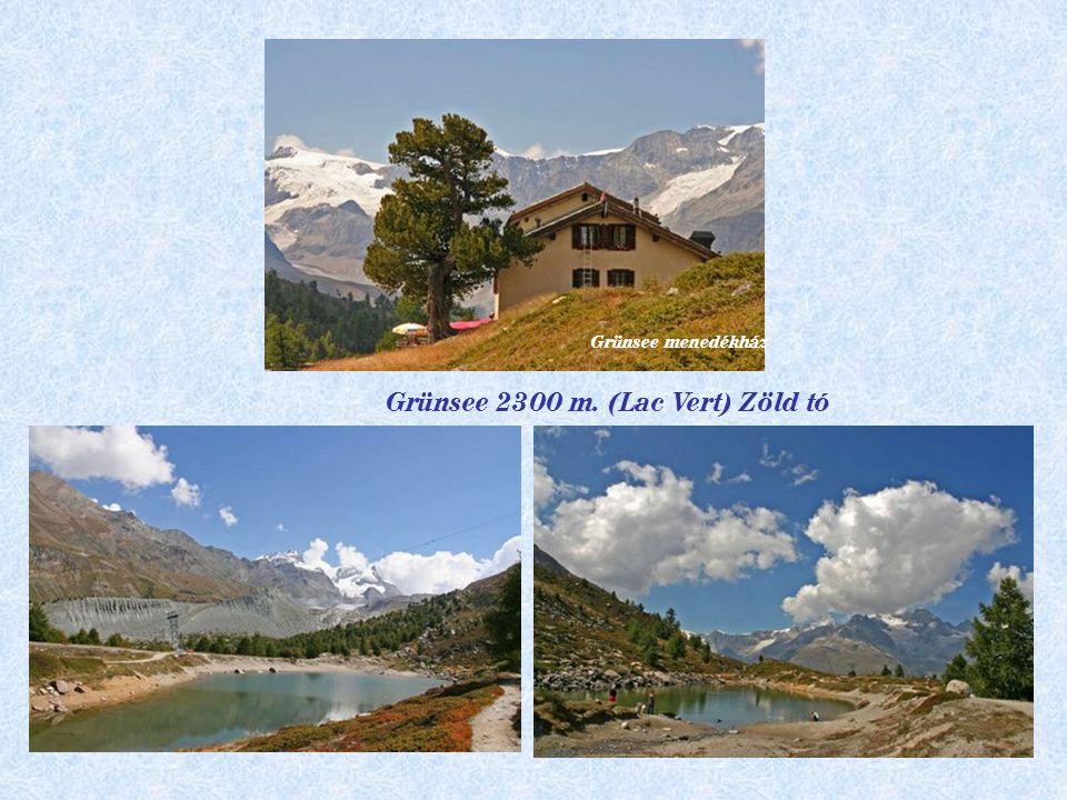 Pt Cervin 3883 m.Breithorn 4164 m Gandegg menedékház 3030 m