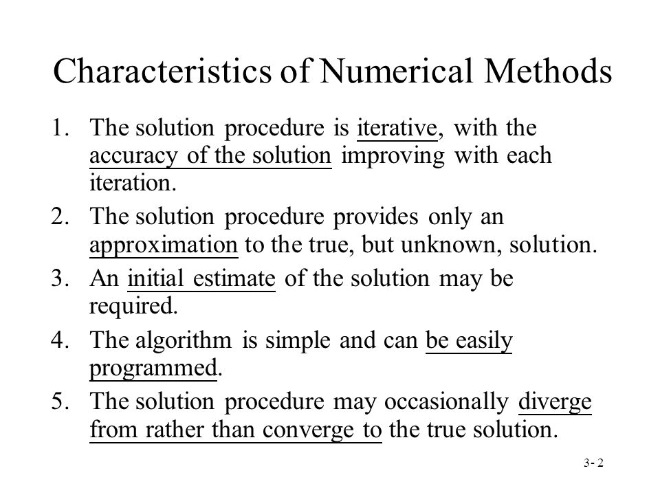 3- 1 Chapter 3 Introduction to Numerical Methods Second-order ...