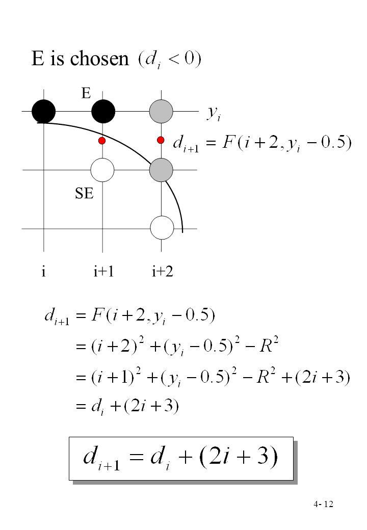 4- 12 E SE ii+1i+2 E is chosen