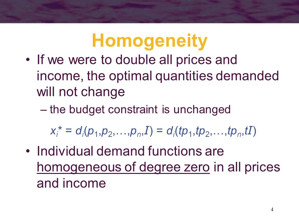15 Changes in a Good's Price U1U1 U2U2 Quantity of x Quantity of y A The income effect occurs because the individual's real income changes when the price of good x changes C Income effect B The income effect is the movement from point C to point B If x is a normal good, the individual will buy more because real income increased