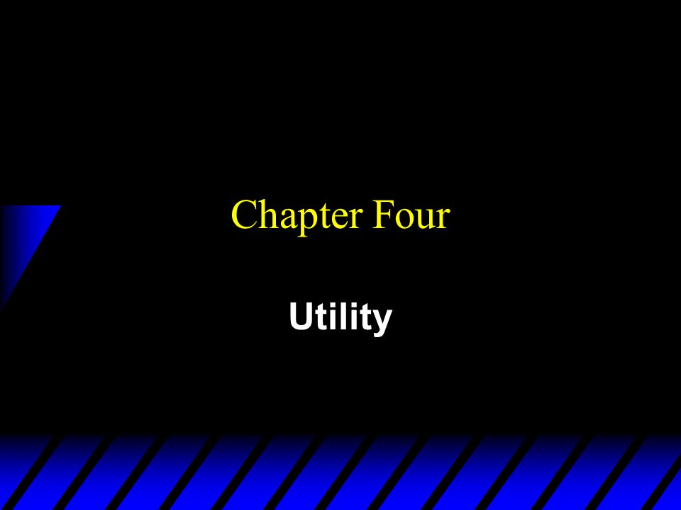 Chapter Four Utility