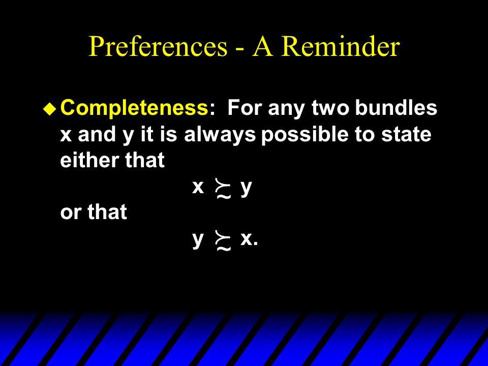 U(2,3) = 6 U(2,2) = 4 U(4,1) = 4 Utility Functions & Indiff.