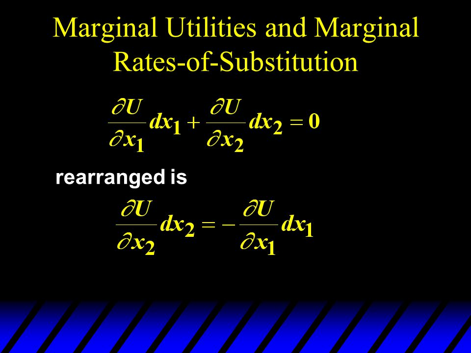 Marginal Utilities and Marginal Rates-of-Substitution rearranged is