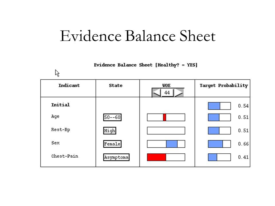 Evidence Balance Sheet