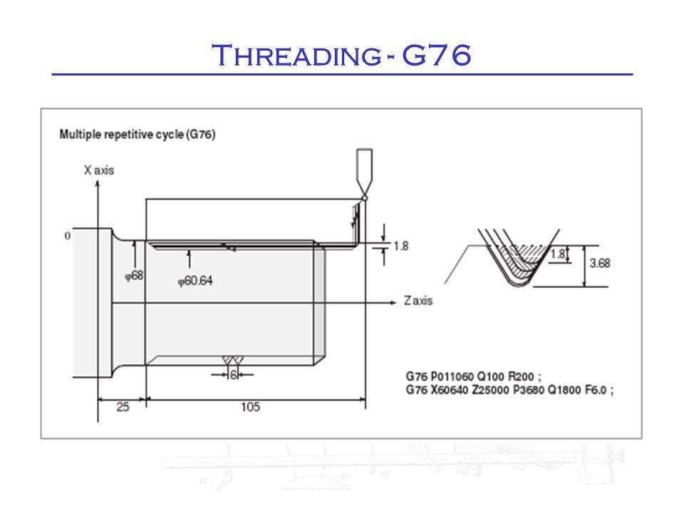 Threading - G76