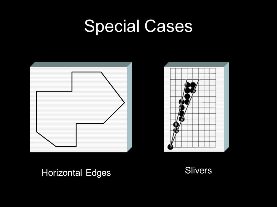 Special Cases Horizontal Edges Slivers
