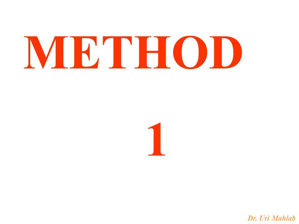Dr. Uri Mahlab METHOD 1