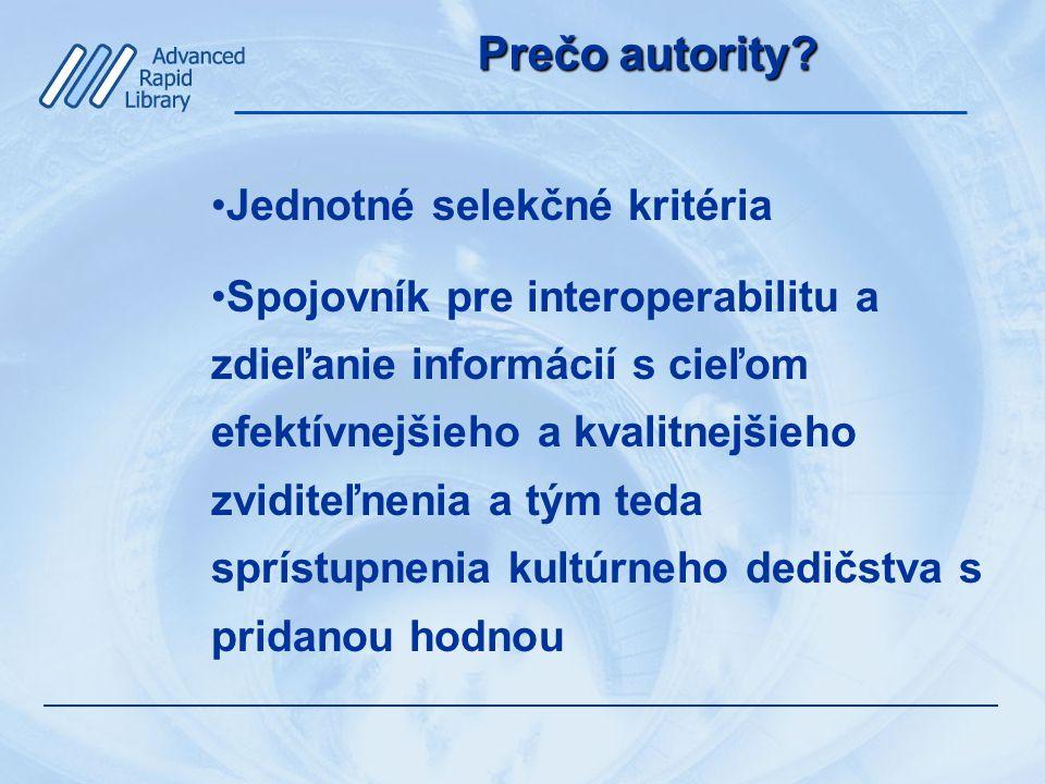 Prečo autority.
